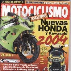 Coches y Motocicletas: REVISTA MOTOCICLISMO AÑO 2003 Nº 1846. PRU: APRILIA RSV 1000 R. MOTO GUZZI STR 750. YAMAHA TT 600 R.. Lote 22622262