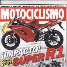 Coches y Motocicletas: REVISTA MOTOCICLISMO Nº 1854 AÑO 2003. PRUEBA: YAMAHA FAZER 600. YAMAHA TZR 50. HYOSUNG KARION 125.. Lote 22622285