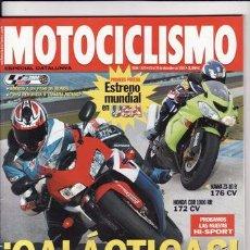 Coches y Motocicletas: REVISTA MOTOCICLISMO Nº 1870 AÑO 2003. PRU: KAWASAKI ZX 10R. HONDA CBR 1000 RR. KYMCO ZING II 125.. Lote 124391800