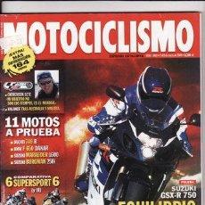 Coches y Motocicletas: REVISTA MOTOCICLISMO Nº 1880 AÑO 2004. PRUEBA: SUZUKI GSX R 750. DUCATI 749 R. SUZUKI BURMAN 250 I,. Lote 22660225