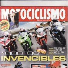 Coches y Motocicletas: REVISTA MOTOCICLISMO Nº 1979 AÑO 2006. PRU: SUZUKI GSX 600 R.COMP:HONDA CBR 1000 RR, KAWASAKI ZX 10R. Lote 22716127