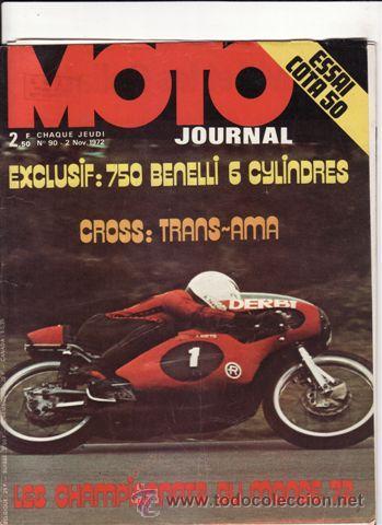 REVISTA MOTO JOURNAL Nº 90 AÑO 1972. PRUEBA: MONTESA COTA 50. (Coches y Motocicletas - Revistas de Motos y Motocicletas)