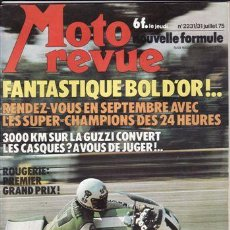 Coches y Motocicletas: REVISTA MOTO REVUE Nº 2231 AÑO 1975. PRUEBA. MOTO GUZZI CONVERT. PRUEBA: OSSA SUPER PIONNER.. Lote 22926177