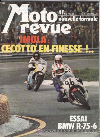 REVISTA MOTO REVUE Nº 2215 AÑO 1975. PRUEBA. YAMANA 650 ELECTRIC. PRUEBA: BMW R/6. (Coches y Motocicletas - Revistas de Motos y Motocicletas)