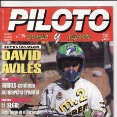Coches y Motocicletas: REVISTA PILOTO CAMPO Y DEPORTA Nº 14 AÑO 1994. PRUEBA: HONDA CR 250. PRUEBA: ALFER VR 250. REPORTAJE. Lote 263080655