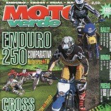 Coches y Motocicletas: REVISTA MOTO VERDE Nº 316 AÑO 2004.COMP:HONDA CRF 450, KTM SX 450, SUZUKI RMZ 450 Y YAMAHA YZF 450.. Lote 47713882