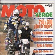 Coches y Motocicletas: REVISTA MOTO VERDE Nº 199 AÑO 1995. PRUEBA: MONTESA COTA 314. GTAS GAS 350. COMP: KAWASAKI KX 80. Lote 23175063