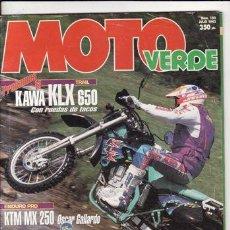 Coches y Motocicletas: REVISTA MOTO VERDE Nº 180 AÑO 1993. PRUEBA: KAWASAKI KLX 650. PRUEBA: ATK MX 250. REPORTAJES Y DEPOR. Lote 128715767