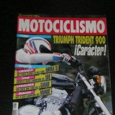 Coches y Motocicletas: MOTOCICLISMO Nº 1272 - JUL 1992 - TRIUMPH TRIDENT 900 / PEUGEOT SV 125 / CRIVILLE / SITO PONS. Lote 17123851