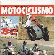Coches y Motocicletas: REVISTA MOTOCICLISMO Nº 920 AÑO 1985. PRU.HONDA VF 1000 F II.COMP:KAWASAKI KLR 600, SUZUKI DLR 600. Lote 23651451