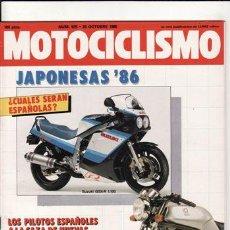 Coches y Motocicletas: REVISTA MOTOCICLISMO Nº 925 AÑO 1985. RACING: JJ COBAS AUTISA 80.. Lote 270233113