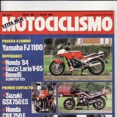 Coches y Motocicletas: REVISTA MOTOCICLISMO Nº 859 AÑO 1984. PRU: YAMAHA FJ 1100. SUZUKI GSX 750 ES. HONDA CBX 750.. Lote 170733817