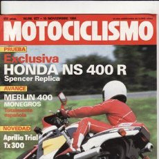 Coches y Motocicletas: REVISTA MOTOCICLISMO Nº 877 AÑO 1984. PRUEBA: HONDA NS 400 R. CONTACTO: APRILIA TRIAL. REPORTAJES Y. Lote 171583640