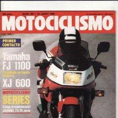 Coches y Motocicletas: REVISTA MOTOCICLISMO Nº 857 AÑO 1984. CONTACTO: YAMAHA FJ 1000. REPORTAJES Y DEPORTE PREGUNTAR.. Lote 170733287