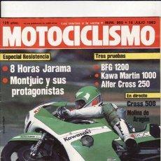 Coches y Motocicletas: REVISTA MOTOCICLISMO Nº 809 AÑO 1983. PRUEBA. ALFER CROSS 250. REPORTAJES Y DEPORTE PREGUTAR. . Lote 36712855
