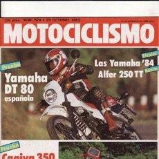 Coches y Motocicletas: REVISTA MOTOCICLISMO Nº 824 AÑO 1983. PRU: YAMAHA DT 80. CAGIVA ALA ROSSA.BMW K 100. CONT: ALFER 250. Lote 130904643