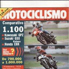 Coches y Motocicletas: REVISTA MOTOCICLISMO Nº 767 AÑO 1982.COMP:KAWASAKI GPZ 1100,SUZUKI GSX 1100 KATANA Y HONDA CBR 1100.. Lote 139972292