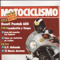 Coches y Motocicletas: REVISTA MOTOCICLISMO Nº 759 AÑO 1982. PRUEBA: DUCATI PANTAH 600. COMP: VESPA 125 Y LAMBRETTA 125.. Lote 288349008