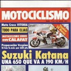 Coches y Motocicletas: REVISTA MOTOCICLISMO Nº 715 AÑO 1981. PRUEBA. HONDA 500 T. REPORTAJES Y DEPORTE PREGUNTAR.. Lote 109489867