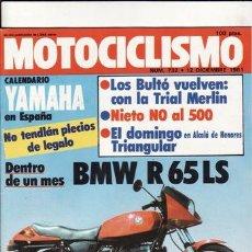 Coches y Motocicletas: REVISTA MOTOCICLISMO Nº 732 AÑO 1981. PRUEBA: BMW R 65 LS. REPORTAJES Y DEPORTE PREGUNTAR. . Lote 23869470