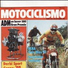 Coches y Motocicletas: REVISTA MOTOCICLISMO Nº 725 AÑO 1981. PRUEBA: DERBI 74 SPORT COPPA. PRUEBA: SWM 250 SL. REPORTAJES Y. Lote 23869493