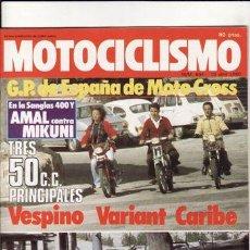 Coches y Motocicletas: REVISTA MOTOCICLISMO Nº 654 AÑO 1980. PRUEBA: MORINI 250. COMP: DERBI VARIANT, PUCH CARIBE Y VESPINO. Lote 109489924