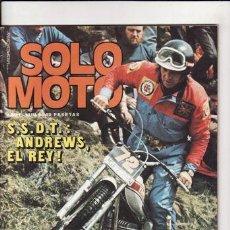 Coches y Motocicletas: REVISTA SOLO MOTO ACTUAL Nº 6 AÑO 1975. PRU: NORTON 850 COMMANDO ELECTRIC.POST: R.GROGG Y A. GRABER. Lote 24067246
