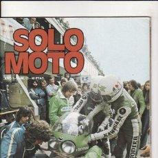 Coches y Motocicletas: REVISTA SOLO MOTO ACTUAL Nº 15 AÑO 1975. PRUEBA: TORROT GS. REPORTAJES Y DEPORTE PREGUNTAR.. Lote 98440674