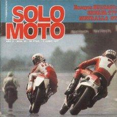 Coches y Motocicletas: REVISTA SOLO MOTO ACTUAL Nº 92 AÑO 1977. PRUEBA: BULTACO METRALLA GTS. BULTACO SHERPA T 325 77.. Lote 24520778