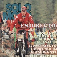 Coches y Motocicletas: REVISTA SOLO MOTO ACTUAL Nº 89 AÑO 1977.. Lote 24520817