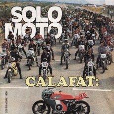 Coches y Motocicletas: REVISTA SOLO MOTO ACTUAL Nº 157 AÑO 1978. PRUEBA: BENELLI 125.. Lote 24590736