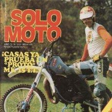 Coches y Motocicletas: REVISTA SOLO MOTO ACTUAL Nº 210 AÑO 1979.. Lote 24756759