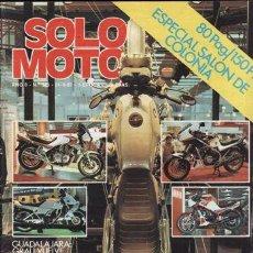 Coches y Motocicletas: REVISTA SOLO MOTO ACTUAL Nº 348 AÑO 1982. CONTACTO: GUZZI V 65.. Lote 24892957