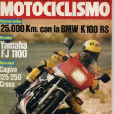 Coches y Motocicletas: MOTOCICLISMO 846 31-3-84 YAMAHA FJ 1100, CAGIVA WMX125 Y 250, YAMAHA TZ-250 DE PONS,. Lote 24927500