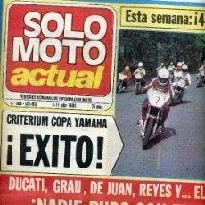 Coches y Motocicletas: SOLO MOTO ACTUAL Nº 386 5-7-1983 MARTIN KAWASAKI 1000J, MONTJUIC,. Lote 24627745