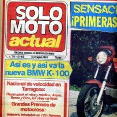 Coches y Motocicletas: SOLO MOTO ACTUAL Nº 392 16-8-1983 BMW K-100, GUZZI V-65 CUSTOM CALIFORNIA,. Lote 24627752