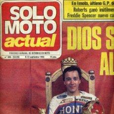 Coches y Motocicletas: SOLO MOTO ACTUAL Nº 395 6-9-1983 BMW K-100, 24 HORAS LLIÇA DE MUNT,. Lote 24627756
