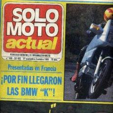 Coches y Motocicletas: SOLO MOTO ACTUAL Nº 398 27-9-1983 CROSS CASTELLON, 6 HORAS MANRESA, BMW K-100,. Lote 24606448