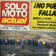 Coches y Motocicletas: SOLO MOTO ACTUAL Nº 400 11-10-1983 TRES DIAS CINGLES TRIAL,. Lote 24606451