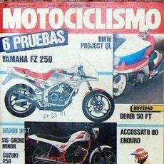 Coches y Motocicletas: MOTOCICLISMO Nº 940 FEB 1986, YAMAHA FZ 250, MORINI 125T, DERBI 50 FT, ACCOSSATO 80, BMW PROJECT QL. Lote 18888017