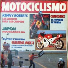 Coches y Motocicletas: MOTOCICLISMO Nº 1071 SEP 1988, KENNY ROBERTS, ERIC GEBOERS, GILERA MX-1, POSTER EDDIE LAWSON. Lote 18888276