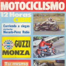 Coches y Motocicletas: MOTOCICLISMO Nº 709 JUN 1981, GUZZI MONZA, SANGLAS 400 Y. Lote 18918209