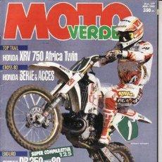 Coches y Motocicletas - REVISTA MOTO VERDE Nº 177 AÑO 1993. COMP: APRILIA RX 125 R, HONDA PEMDA 125, HRD GS 125, KTM EXC 125 - 46238398
