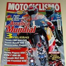 Coches y Motocicletas: MOTOCICLISMO 1673 2000 HONDA CBR 600 EVO SUZUKI BANDIT 600 S - ARRANCA EL MUNDIAL ...... Lote 219553832