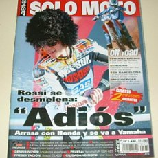 Coches y Motocicletas: SOLO MOTO 1430 2003 ROSSI SE VA A YAMAHA - SUPER POSTER TONI ELIAS .. YAMAHA FJR 1300 ABS. Lote 24697632