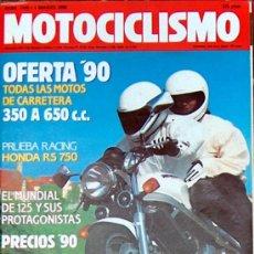 Coches y Motocicletas: MOTOCICLISMO Nº 1149 MAR 1990, OFERTA 90 DE 350 A 650, HONDA RS 750, SUZUKI DR50 BIG. Lote 19360506