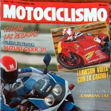 Coches y Motocicletas - MOTOCICLISMO Nº 1184 NOV 1990,SUZUKI GSXR 91, KAWA ZXR, SUZUKI DR BIG 50, LAWSON CAGIVA - 19366390