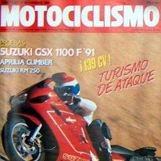 Coches y Motocicletas: MOTOCICLISMO Nº 1186 NOV 1990,SUZUKI GSX 110 F91, APRILIA CLIMBER, SUZUKI RM250. Lote 19366409