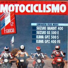Coches y Motocicletas: MOTOCICLISMO Nº 1222 JUL 1991,SUZUKI BANDIT 400 Y GS 500E, KAWA GPZ 500S Y 400 FII, BAJA ARAGON. Lote 19366590