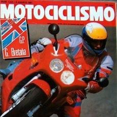 Coches y Motocicletas: MOTOCICLISMO Nº 1224 AGO 1991,TRIUMPH DAYTONA 1000, YAMAHA VIRAGO 1100, APRILIA FUTURA 125. Lote 19366628